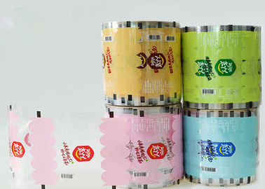 BOPP / CPP Laminated Plastik Roll Film Kustom Bubble Tea Tutup / Printing Cup Sealing