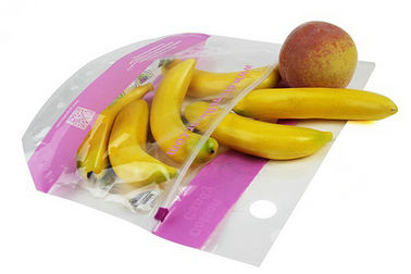 Eco Friendly Fruit Packaging Bags , OPP/CPP Ziplock Vegetable Storage Bags Durable
