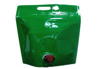 Stand Up Plastic Drink Bags, Customed Printed Liquid Spout Bags Dengan Pemeriksaan Gas